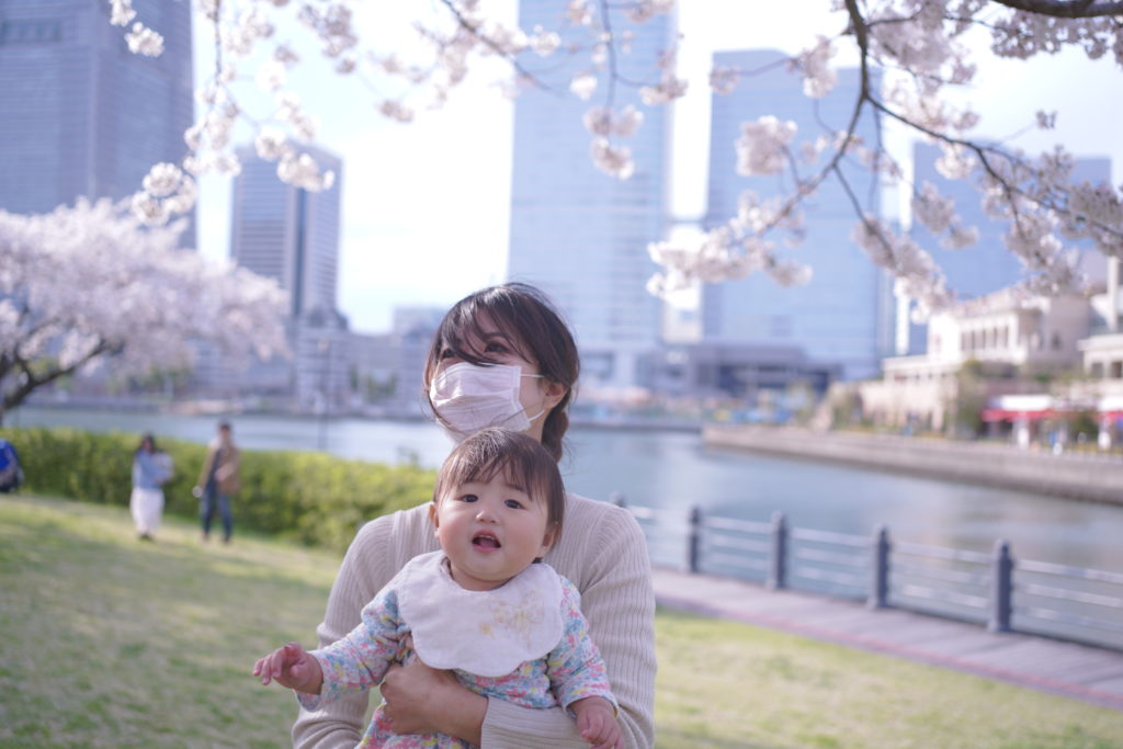 1歳 誕生日 桜