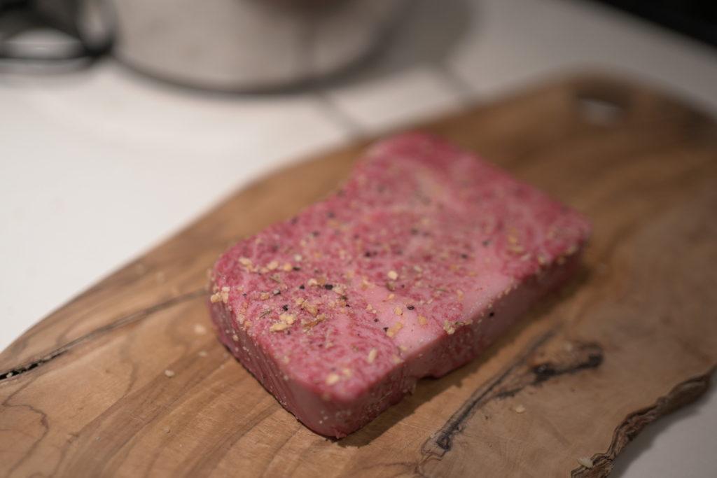 低温調理 牛ステーキ